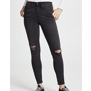 "Madewell • Distressed 9"" High Rise Skinny"